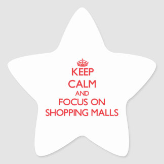 Guarde la calma y el foco en alamedas de compras