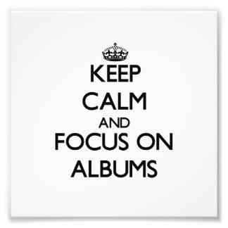 Guarde la calma y el foco en álbumes