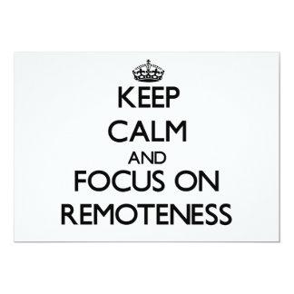 Guarde la calma y el foco en alejamiento comunicados personales
