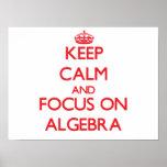 Guarde la calma y el foco en ÁLGEBRA