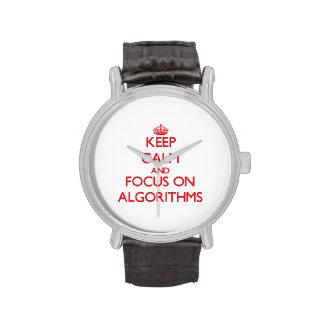 Guarde la calma y el foco en ALGORITMOS Relojes