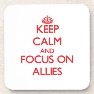 Guarde la calma y el foco en ALIADOS Posavasos