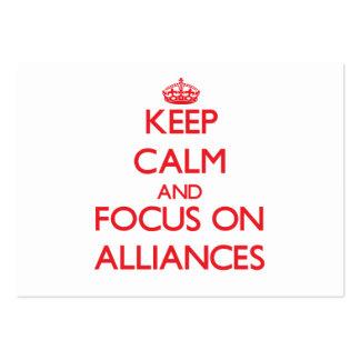 Guarde la calma y el foco en ALIANZAS Tarjetas De Visita Grandes