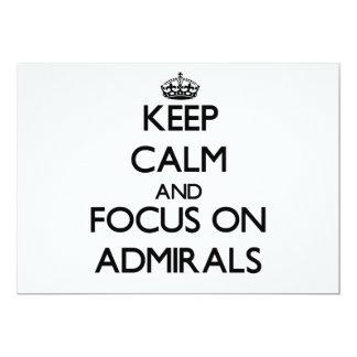 Guarde la calma y el foco en almirantes comunicados personalizados