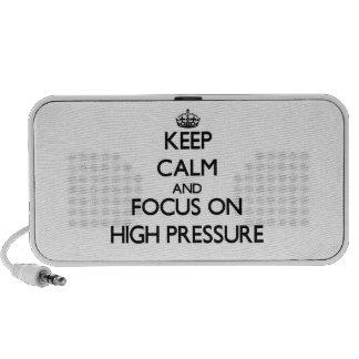 Guarde la calma y el foco en alta presión mp3 altavoz