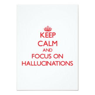 Guarde la calma y el foco en alucinaciones anuncio
