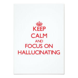 Guarde la calma y el foco en alucinar invitación personalizada