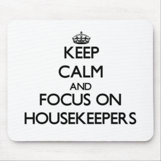 Guarde la calma y el foco en amas de casa tapetes de ratones