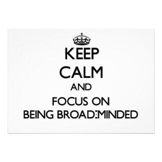 Guarde la calma y el foco en Amplio-Ser importado