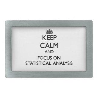 Guarde la calma y el foco en análisis estadístico hebillas de cinturón rectangulares