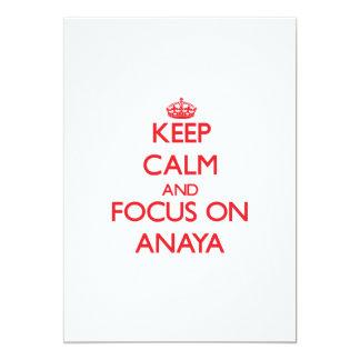 """Guarde la calma y el foco en Anaya Invitación 5"""" X 7"""""""