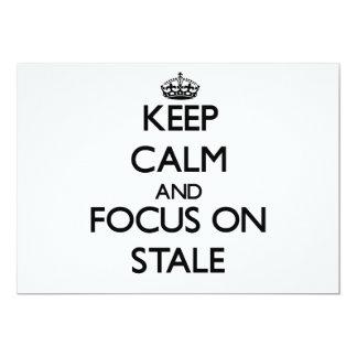Guarde la calma y el foco en añejo comunicado