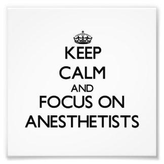 Guarde la calma y el foco en Anesthetists Fotografía