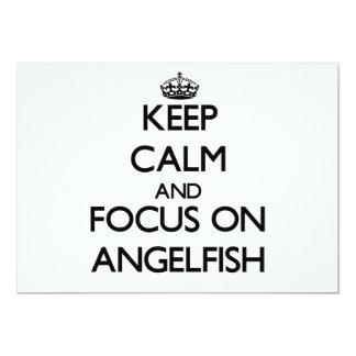 """Guarde la calma y el foco en Angelfish Invitación 5"""" X 7"""""""