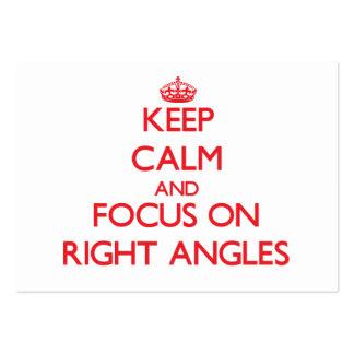 Guarde la calma y el foco en ángulos rectos