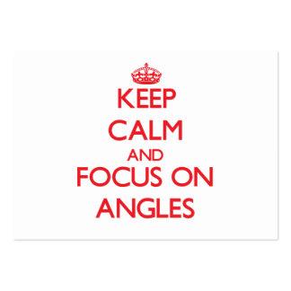 Guarde la calma y el foco en ÁNGULOS