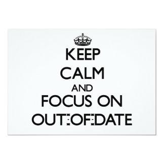 Guarde la calma y el foco en anticuado invitacion personal