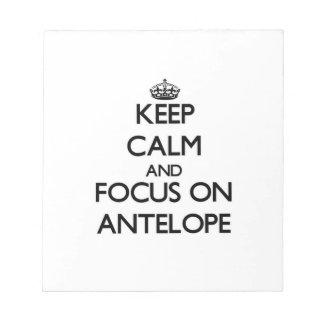 Guarde la calma y el foco en antílope