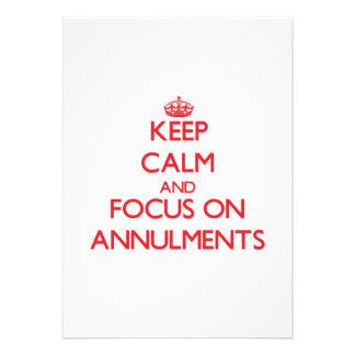 Guarde la calma y el foco en ANULACIONES Comunicado Personal