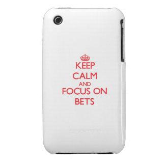 Guarde la calma y el foco en apuestas iPhone 3 Case-Mate cárcasa
