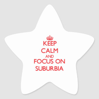 Guarde la calma y el foco en áreas residenciales pegatinas forma de estrellaes