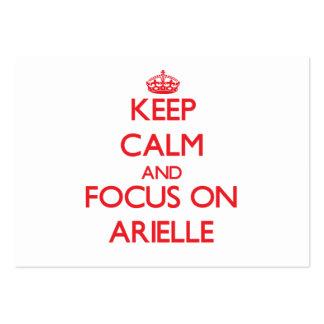 Guarde la calma y el foco en Arielle Tarjetas Personales