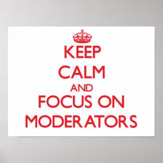 Guarde la calma y el foco en asesores poster