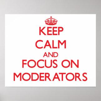 Guarde la calma y el foco en asesores impresiones
