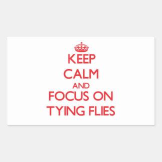 Guarde la calma y el foco en atar moscas rectangular altavoces