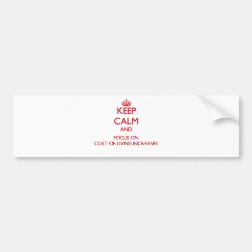 Guarde la calma y el foco en aumentos de costo de  pegatina de parachoque