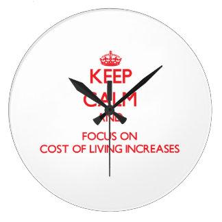 Guarde la calma y el foco en aumentos de costo de reloj de pared