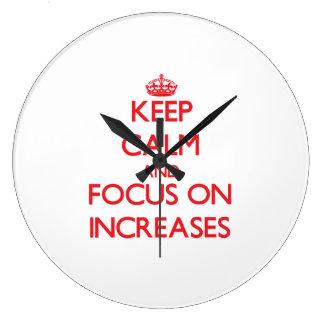 Guarde la calma y el foco en aumentos