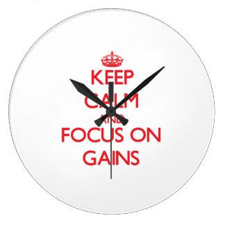 Guarde la calma y el foco en aumentos reloj