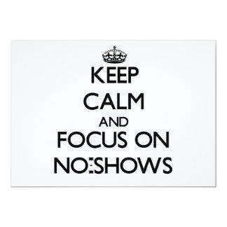 Guarde la calma y el foco en ausencias invitacion personalizada