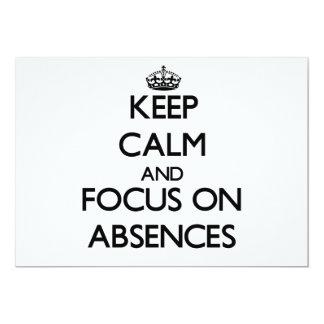 Guarde la calma y el foco en ausencias invitacion personal
