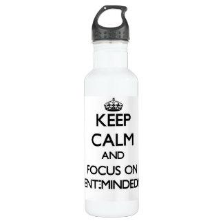 Guarde la calma y el foco en Ausente-Mindedness