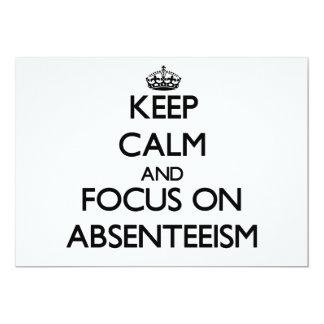 Guarde la calma y el foco en ausentismo comunicados personalizados