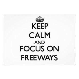 Guarde la calma y el foco en autopistas sin peaje comunicados
