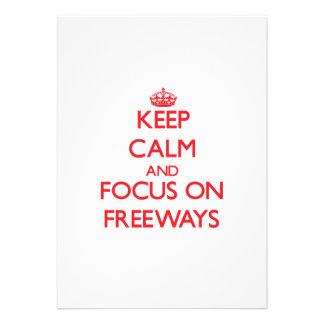 Guarde la calma y el foco en autopistas sin peaje comunicado personalizado