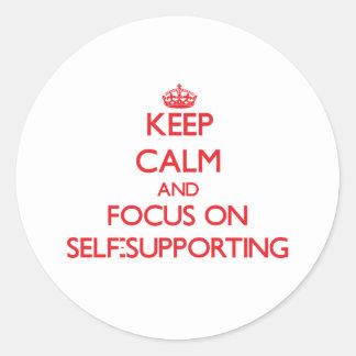 Guarde la calma y el foco en autosuficiente