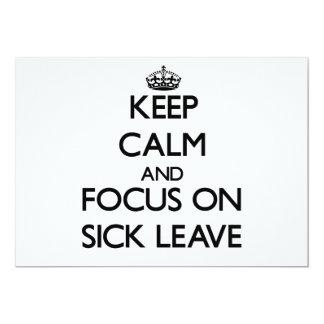 Guarde la calma y el foco en bajas por enfermedad invitación personalizada