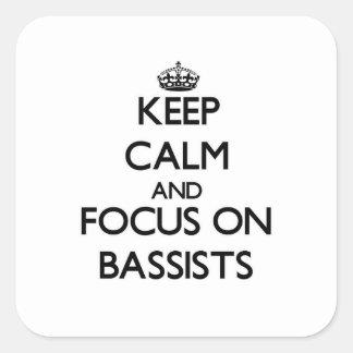 Guarde la calma y el foco en bajistas colcomanias cuadradas