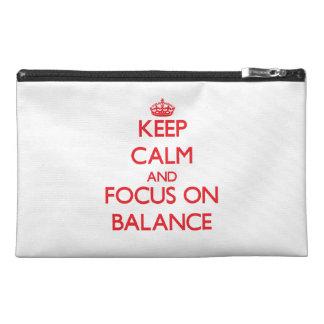 Guarde la calma y el foco en balanza