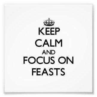 Guarde la calma y el foco en banquetes
