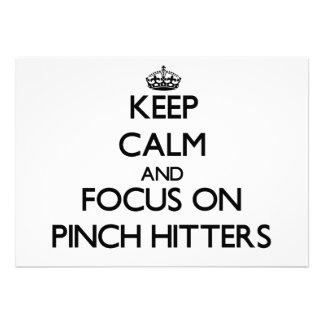 Guarde la calma y el foco en bateadores de pellizc