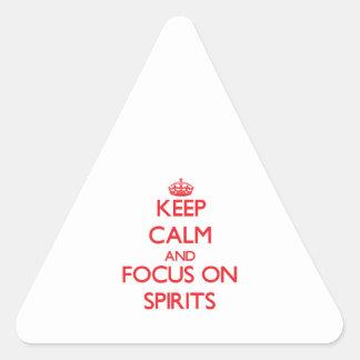 Guarde la calma y el foco en bebidas espirituosas