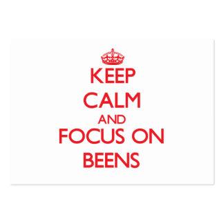 Guarde la calma y el foco en Beens Tarjetas De Visita Grandes