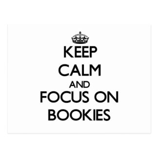 Guarde la calma y el foco en Bookies Tarjetas Postales