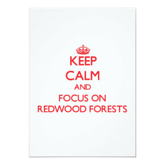 Guarde la calma y el foco en bosques de la secoya invitacion personal
