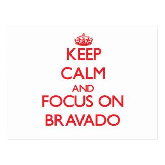 Guarde la calma y el foco en Bravado Postales